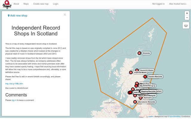 Independent Record Shops in Scotland screenshot